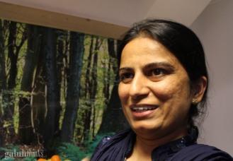Saima (Pakistan). She is very warm and sharp journalist. Our mama!